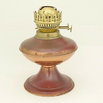 Vintage Brass Oil Lamp For Upcycling / Restoration Project Approx 21Cm High