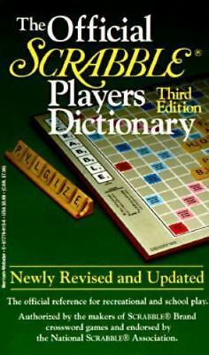 The Official Scrabble Players Dictionary (1996, Paperback, Revised)