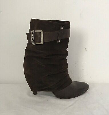 KILLAH MISS SIXTY Western Style Brown Leather Boots Size 7 5