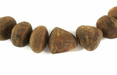 Clay Spindle Whorl Beads Mali Africa HUGE 36 Inch SALE WAS $125.00