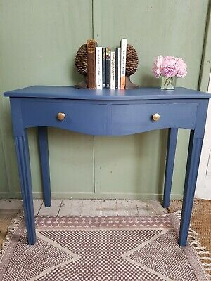 Antique bow front side table
