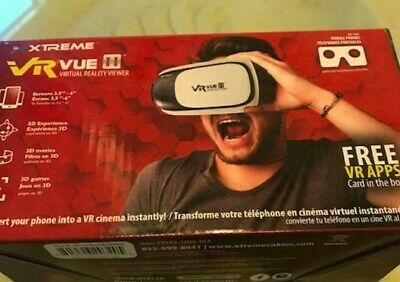 Xtreme VR Vue II Virtual Reality View Headset Mobile Phones 3D Movie Games