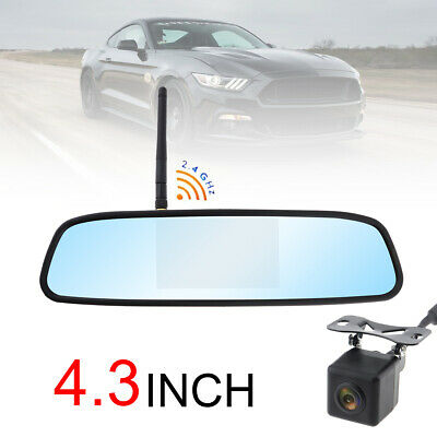 "Wireless Car Bus Truck Rear View Kit 4.3"" Lcd Mirror Monitor Ir Reversing Camera"