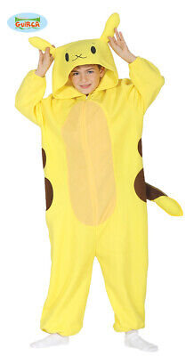 Childs Electric Chinchilla Mouse Fancy Dress Costume Kids Yellow Game Outfit fg