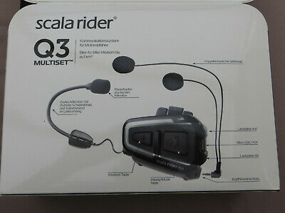 Cardo Scala Rider Q3 Multiset Motorrad Bluetooth Sprechanlage Headsets
