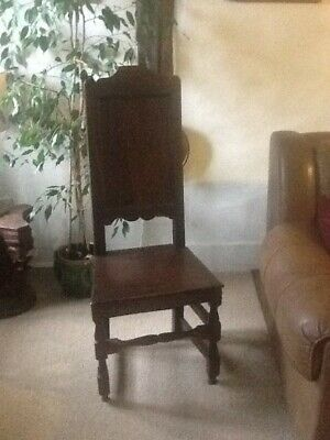Jacobean Oak Highback Chair 1567-1625. Original
