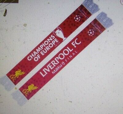 Liverpool Official Champions League Coloured 2019 Champions Of Europe Scarf