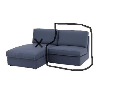 Ikea Kivik One (1) Seat Section Chair Cover - Ramna Dark Blue 302.756.39