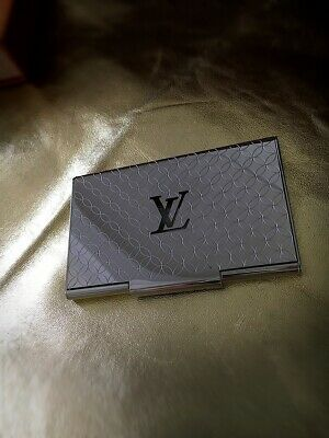 LOUIS VUITTON metal business card holder silver Champs Elysees M65227 Limited Ed