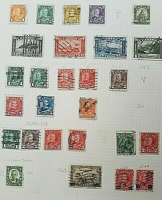 George V Canada used collection on a Page - Good Cat Value