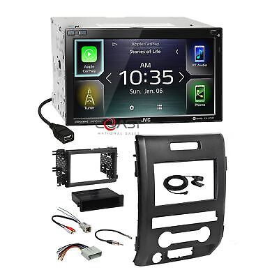 JVC BT Sirius Carplay Android Stereo 2Din Dash Kit Harness for 09-12 Ford F-150