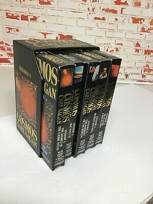 Cosmos Series Carl Sagen VHS Original 13 Episodes, Paperback and Interview