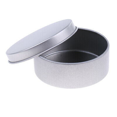 Empty Round Candle Tin Storage Case Aluminum Container Box Can Portable