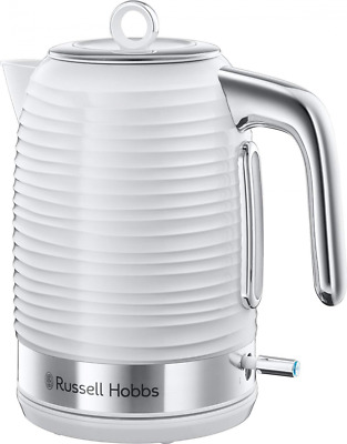 Russell Hobbs 24360 Inspire Kettle, 3000 W, 1.7 Litre, White with Chrome Accents