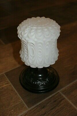 Vintage FaNcY ORB Ceiling Light Fixture! Frosted Swag Glass Globe Shade. REWIRED