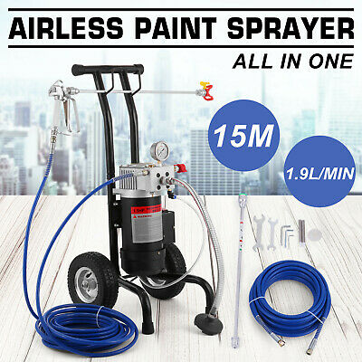 All-in-One Airless Paint Sprayer High Pressure 220Bar 1.9L/MIN Spray Gun Painter