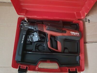 Hilti DX 76 PTR nail gun with MX72 PTR and other fastener. Used