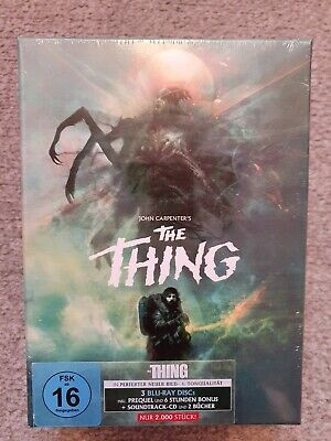 The Thing Blu Ray Deluxe Limited Edition Modern 4 Disc Set OOP New Sealed