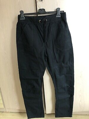 M&S Boys Chino Trousers Age 13-14 Waist 28 Inches Inside Leg 27in Black