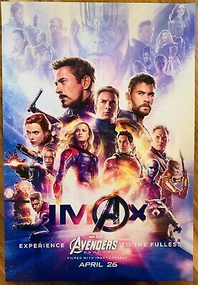 "MARVEL AVENGERS ENDGAME Official Movie 13"" x 19"" PREMIERE NIGHT IMAX Poster"