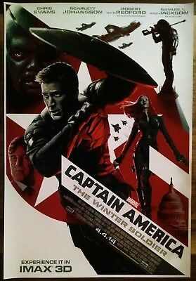 Marvel Studios CAPTAIN AMERICA WINTER SOLDIER-Original IMAX Movie Poster-MCU