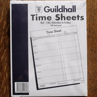 Guildhall Time Sheets, pad of 100