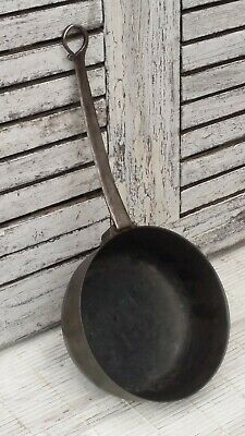 Antique Vintage French Cast Iron Cooking Saucepan with Long Handle RUSTIC PAN