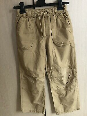 M&S Boys Chino Trousers 9-10 Waist 25 Inches Inside Leg 21.5in Sand 100% Cotton