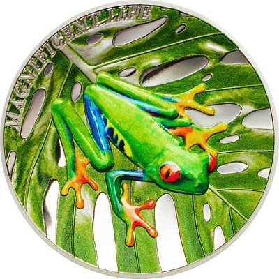 2018 Cook Islands 1 Ounce Red Eyed Tree Frog Colored Proof Silver Coin Set