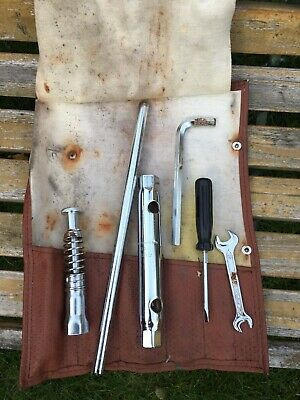 Porsche 911 SC 964 993 Tool Kit Roll original West German tool kit with tools.