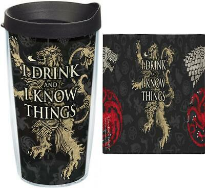 21f624b9c0a Tervis 1241674 HBO Game of Thrones - House Lannister 16 oz - Tritan, Clear