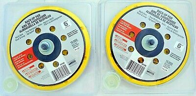 "Lot of 2 NORTON 63642506160 Hook-and-Loop Dsc BU Pad,Multi-Hole, 6"" x 5/16-24"