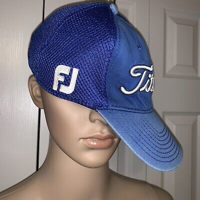 Titleist Pro FJ FootJoy by New Era Navy Small-Medium Fitted Hat Blue V1 Cap