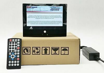 """New 7"""" Color Digital Photo Frame Video Player Lcd Display Usb Sd+Speakers+Remote"""
