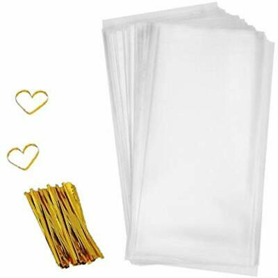 twist tie partyJB long hair doll bread food gift favor cellophane cello bags