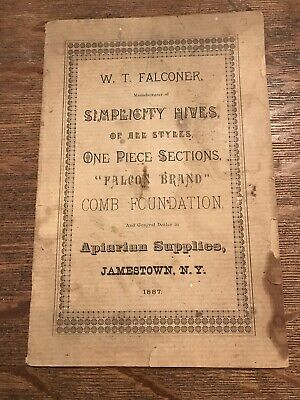 W.T. Falconer Simplicity Hives of All Styles, Apiarian Supplies, 1887