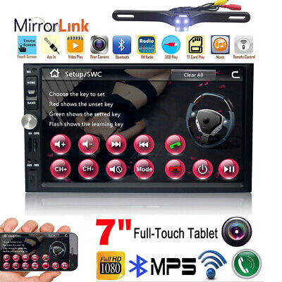 """2019 For Sony Lens Double 2Din 7""""Car Stereo Radio GPS Player In Dash BT MP3+CAM"""