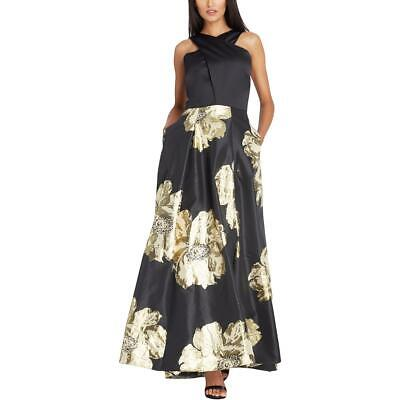6929ee96c256a Tahari ASL Womens Black Metallic Special Occasion Evening Dress Gown 4 BHFO  0895