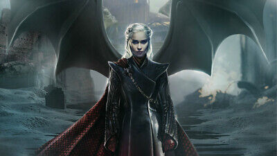 Game of Thrones Daenerys Emilia Clarke Silk poster 24 X 14 inch wallpaper