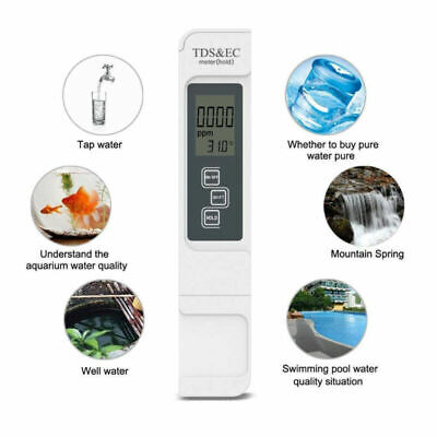 TDS EC Temperature Meter Digital LCD Tester Water Quality Filter Purity 3 In 1