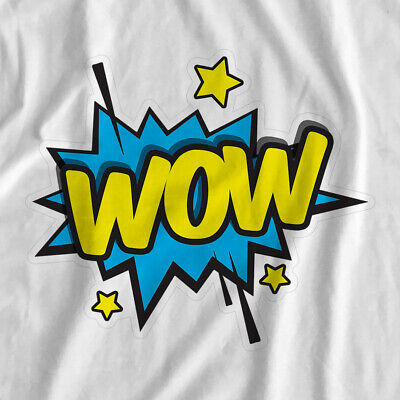 Comic Book Actions | Wow | Iron On T-Shirt Transfer Print