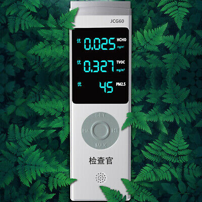 Digital Display USB Rechargeable PM1.0/PM2.5/PM10 TVOC HCHO Formaldehyde D9P3