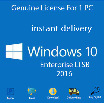 Windows 10 Enterprise LTSB 2016 Activation Key license code +download link