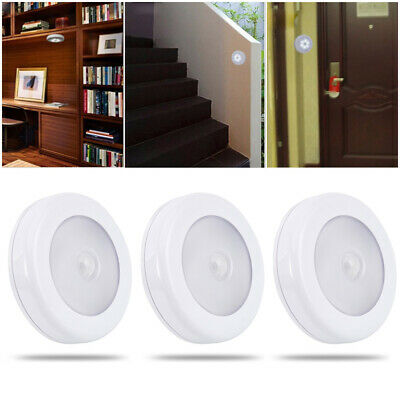 3X LED Motion Sensor Light Outdoor Indoor Wall Stair Shed Lamp Battery Safety