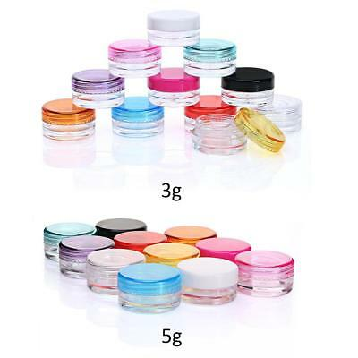 10PCS 3/5g Sample Cosmetic Makeup Jars Pot Container For Face Cream Lip Balms