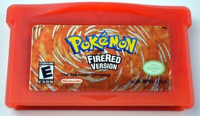 Game Boy Advance Pokemon Fire Red Version  Cartridge with free plastic case