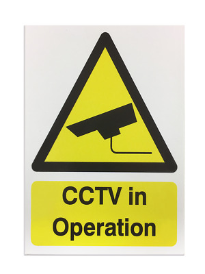 'CCTV in Operation' Foamex Printed Safety Sign - Pack of 5