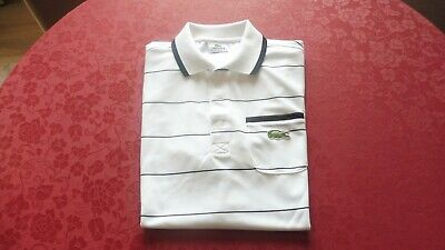 Maillot Tee Noir Raye Homme Shirt T Polo Blanc Lacoste 5 Sport P0X8nONwk