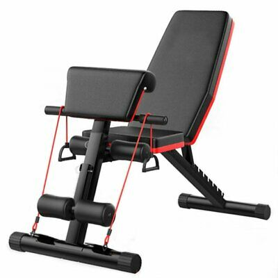 Heavy Duty Adjustable FID Weight Bench Flat/Incline/Decline Gym/Dumbbell Bench