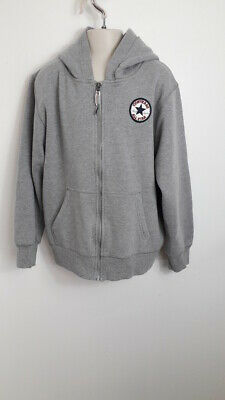 Girl's Converse Hoodie Grey All Star Zip Up Child's Size 12-13 Years
